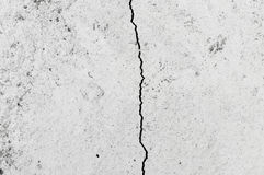 Grungy wall with large crack cement floor texture Royalty Free Stock Photo