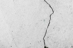Grungy wall with large crack cement floor texture Royalty Free Stock Image