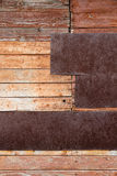 Grungy wall old wood texture as background. Stock Photos