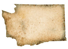 Grungy Washington Map Stock Photography