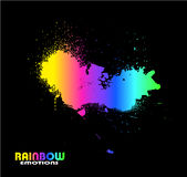 Grungy Water Drops with Rainbow . Abstract Grungy Water Drops with Rainbow Spectrum of colours Stock Image