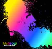 Grungy Water Drops with Rainbow colours Royalty Free Stock Images