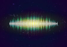 Grungy waveform card Royalty Free Stock Image