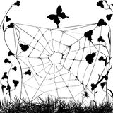 Grungy web spider Stock Photography