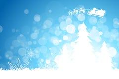 Grungy Weihnachtsgruß-Karte Stockfotografie