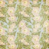 Grungy Weinlese Antike-Rosa-Blumen-Muster Stockbilder