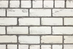 Grungy white brick wall texture Royalty Free Stock Photos