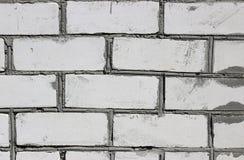 Grungy white brick wall texture Stock Photos