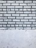 Grungy white brick wall urban city texture Stock Photography