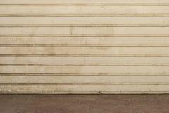 Grungy white garage door Stock Photos
