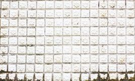Grungy white mosaic tiles flower texture with white filling Royalty Free Stock Image