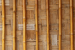 Grungy wicker bamboo panel background Stock Images