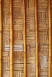 Grungy wicker bamboo panel background. Royalty Free Stock Image