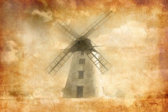 Grungy windmill Stock Photos