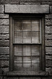 Grungy Window with Blinds Royalty Free Stock Photography