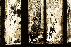 Grungy window with carbon black Royalty Free Stock Photos