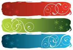 Grungy winter banners Stock Images