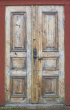 Grungy Wood Door Royalty Free Stock Images