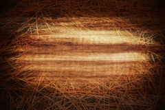 Grungy wood and hay background Stock Photos