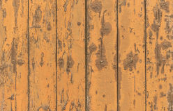 Grungy wood planks orange colored Stock Photo