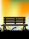 Grungy wooden bench royalty free illustration