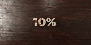 10% - grungy wooden headline on Maple  - 3D rendered royalty free stock image Royalty Free Stock Photography