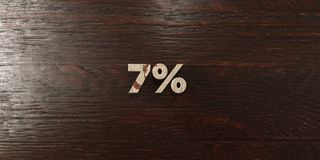 7% - grungy wooden headline on Maple  - 3D rendered royalty free stock image Royalty Free Stock Photography