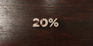 20% - grungy wooden headline on Maple  - 3D rendered royalty free stock image Stock Photo