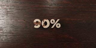 90% - grungy wooden headline on Maple  - 3D rendered royalty free stock image. This image can be used for an online website banner ad or a print postcard Stock Images