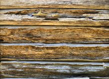 Grungy Wooden Panelling. Closeup of grungy wooden panelling Royalty Free Stock Photo