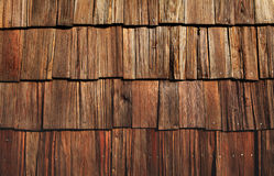 Grungy wooden shingles Royalty Free Stock Images