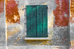 Grungy wooden window Stock Photos