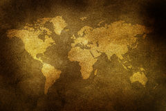 Grungy world map Stock Photos