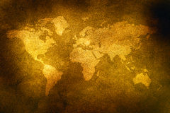 Grungy world map Royalty Free Stock Photos