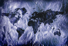 Grungy world map Stock Image