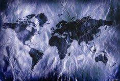 Grungy world map Stock Image