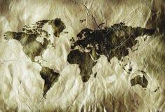 Grungy world map Stock Photo