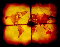 Grungy world map illustration Stock Photo