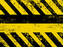 A grungy and worn hazard stripes texture. EPS 8 Stock Photo