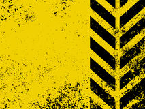 A grungy and worn hazard stripes texture. EPS 8 Stock Image