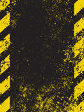 A grungy and worn hazard stripes texture. EPS 8 Stock Photography