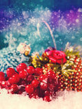 Grungy Xmas backgrounds Stock Photography