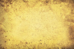 Grungy yellow background texture Royalty Free Stock Photos