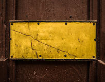 Grungy Yellow Blank Sign Stock Image