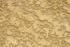 Grungy yellow plaster real texture Royalty Free Stock Photography