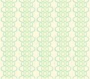 Grungy z kości słoniowej bezszwowy tło z zielonymi koronkami Fotografia Stock