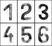 Grungy Zahlen 1-6 Lizenzfreie Stockbilder
