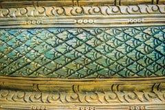 Grungy zielony stiuku wzór wąż waży dla tła Na Obrazy Royalty Free