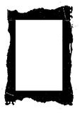 Grungy zwart frame vector illustratie