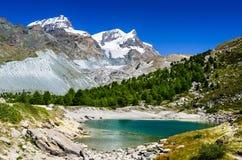Lago Grunsee, Zermatt, Svizzera Fotografia Stock Libera da Diritti